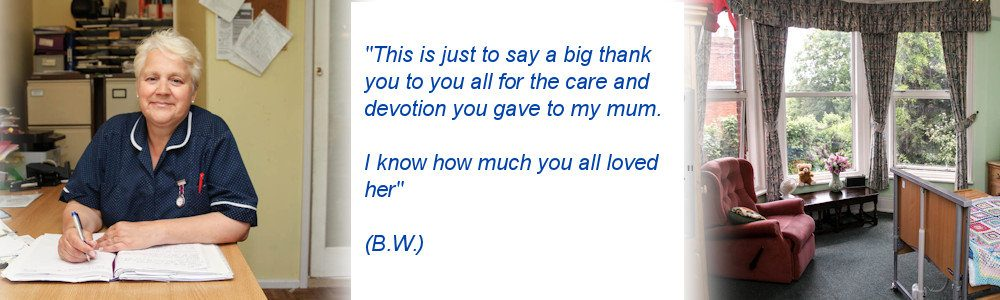 Maristow House Nursing Home Matron, Bedroom and Testimonial